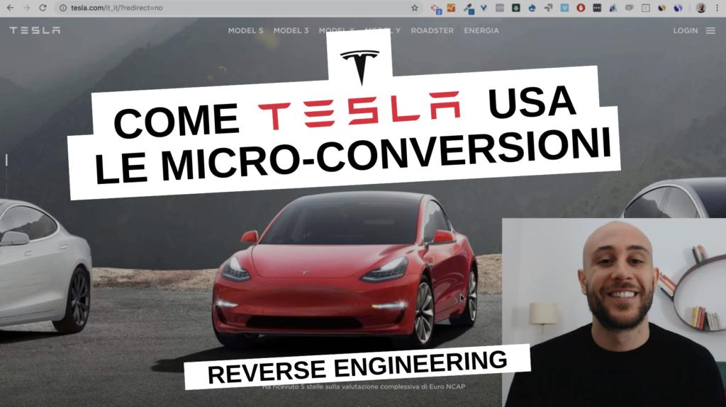 La Strategia di Micro-Conversioni di Tesla | Reverse Engineering